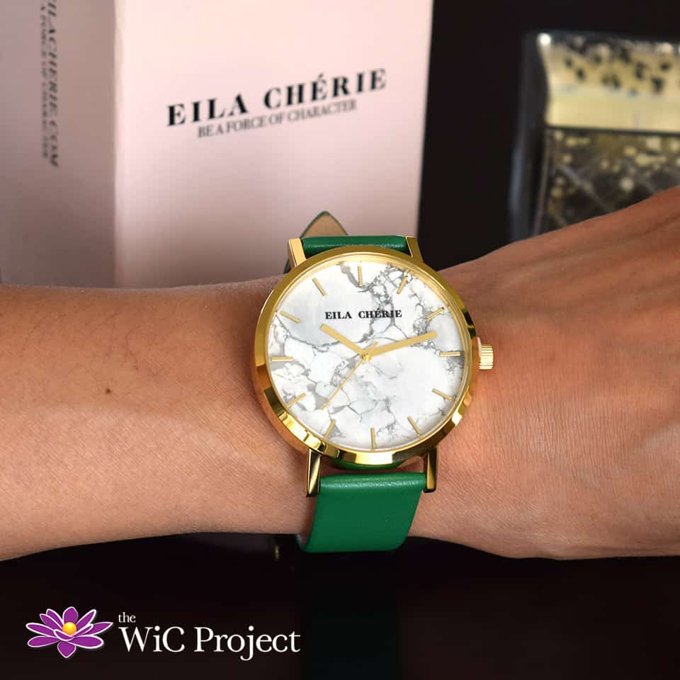 Eila Chérie Olivia Watch in Olive Green