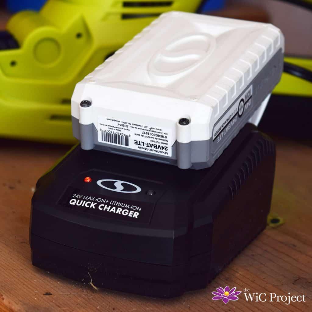 Sun Joe 24V Cordless Hedge Trimmer Battery