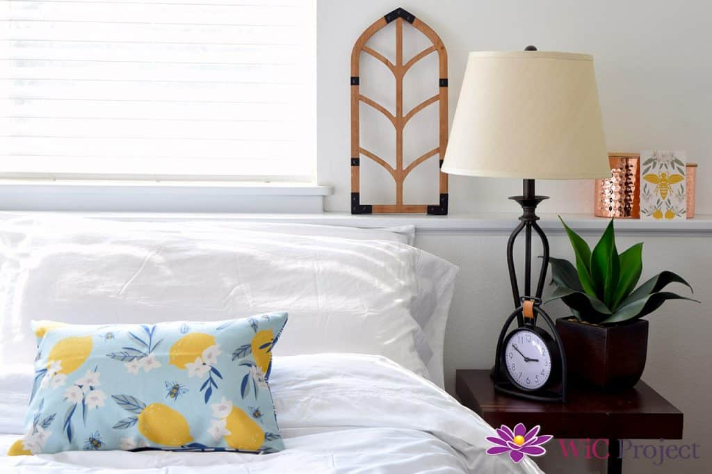 Bedroom decorated with Summer 2021 Decocrated Home Decor