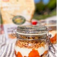 No-Bake Almond Vanilla Peach Cobbler